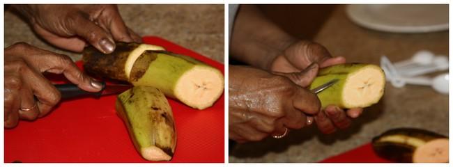 couper la banane plantain