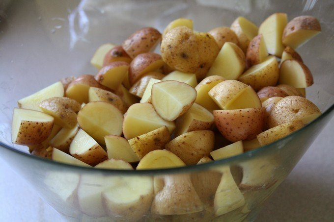 salade de patate et betterave haitienne - patate grelot