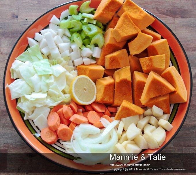 ingrédient pour soup joumou